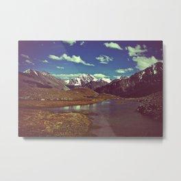 mountain mirror Metal Print