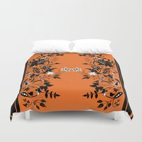 baroque Duvet Covers featuring baroque by Maria Fernanda Furtado