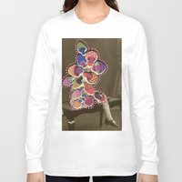 moss Long Sleeve T-shirts featuring Moss Smile by Naomi Vona