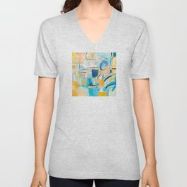 Summer Day Deconstructed Unisex V-Neck