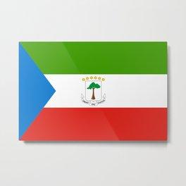 Flag of Equatorial Guinea Metal Print