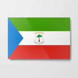 Flag of Equatorial Guinea Metal Print