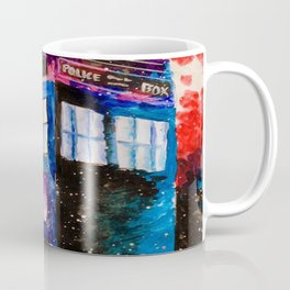 Doctor Who Tardis Painting Coffee Mug