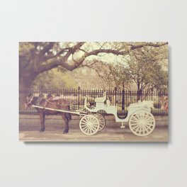 New Orleans Carriage Ride Metal Print