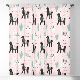 Sweet Alpacas Pattern Blackout Curtain