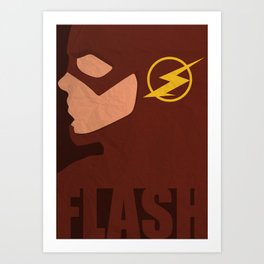 The Flash Minimalist - CW Art Print