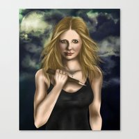 buffy Canvas Prints featuring Buffy Summers by Jade Todd