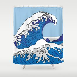 Great Wave of Humboldt - Daytime Shower Curtain