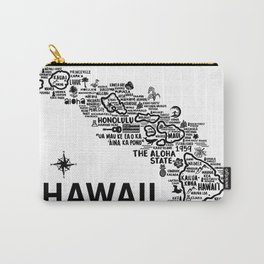 Hawaii Map Carry-All Pouch