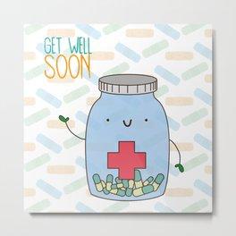 Get well soon Metal Print
