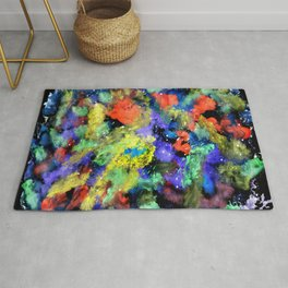 Colorful Chaos painting Rug