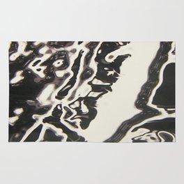 Black Plastic Fantastic Print Rug