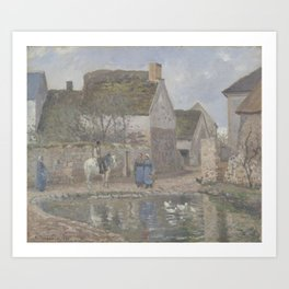 Camille Pissarro - The Duck Pond at Ennery Art Print
