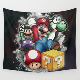 Mario et ses amis Wall Tapestry