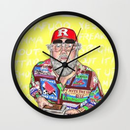 R STEVIE MOORE: YOLOFI Wall Clock