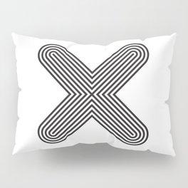 Letter X Pillow Sham