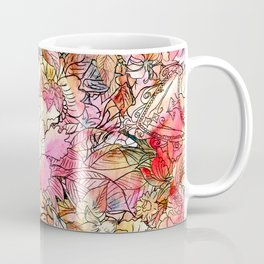 Summer Flowers | Colorful Watercolor Floral Pattern Abstract Sketch Coffee Mug
