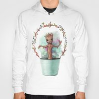 groot Hoodies featuring Baby Groot by Pendientera