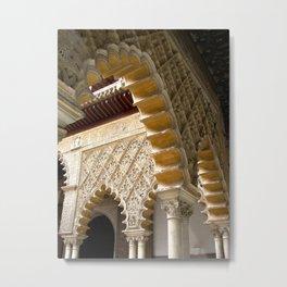 Alhambra Archways Metal Print