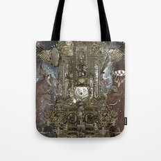 Steampunk Space Transport Tote Bag
