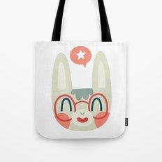 Cute Green Bunny Wearing Glasses Tote Bag