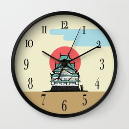 Osaka castle Wall Clock