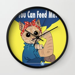 You Can Feed Me Wall Clock