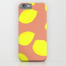 Lemon Print iPhone Case