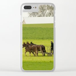 Young Amish Farmer Clear iPhone Case