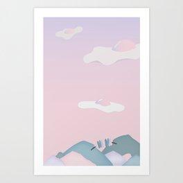 Egg Clouds Art Print