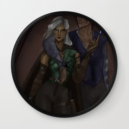 Rowaelin daughter and Feysand son Wall Clock