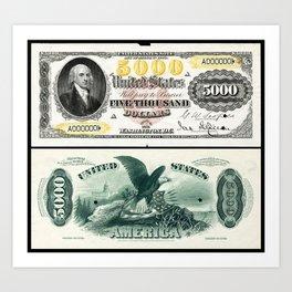 James Madison US 5000 (1878) Art Print