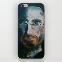 steve jobs iPhone & iPod Skins featuring Steve Jobs by Charles Dowdy