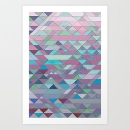 Triangle Pattern no.3 Violet Art Print