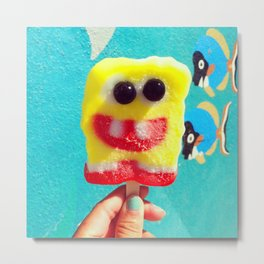 Spongebob:D Metal Print