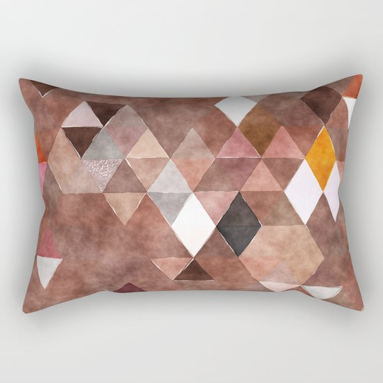 Retro Triangles Pattern 04 Rectangular Pillow