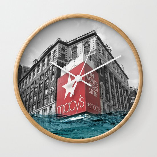 Macy's water line Wall Clock