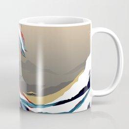 The Great Wave in Colour. Tigerstripe Camo. Coffee Mug