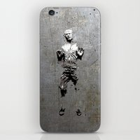 han solo iPhone & iPod Skins featuring Han Solo Carbonite by Inara