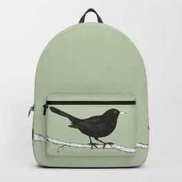 Blackbird pen drawing Backpack