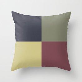 Yellow Green Blue Red Geometric Minimal Design Throw Pillow