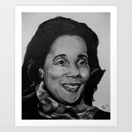 Coretta Scott King (BW) Art Print