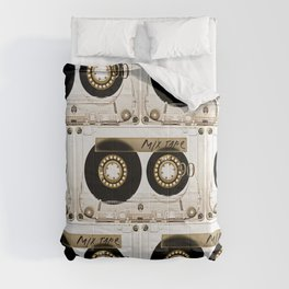 Retro classic vintage transparent mix cassette tape Comforters