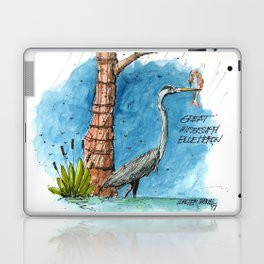 Mississippi Great Blue Heron Laptop & iPad Skin