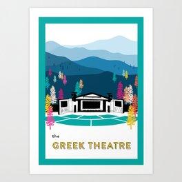 The Greek Theatre Art Print