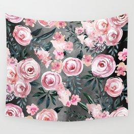 Night Rose Garden Wall Tapestry