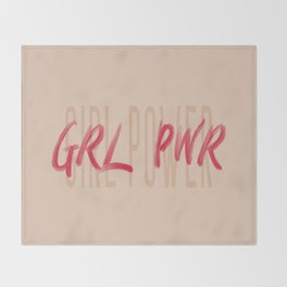 Girl Power GRL PWR - Typography and Lettering Throw Blanket
