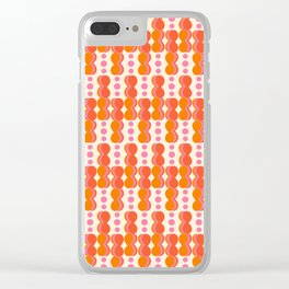 Uende Sixties - Geometric and bold retro shapes Clear iPhone Case