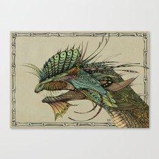 Decorated dinosaurs: Dilophosaurus Canvas Print
