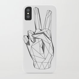 Geometric Peace sign iPhone Case